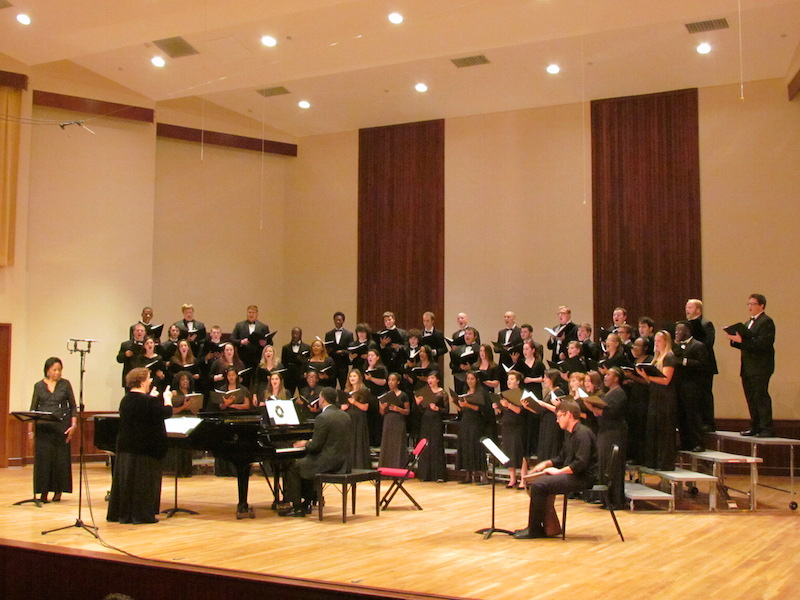 USA Concert Choir performing on stage