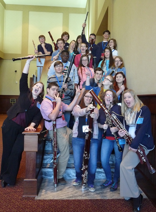 Group Photo from Double Reed Day 2015