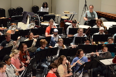 USA Symphony Band pictured in rehearsal.