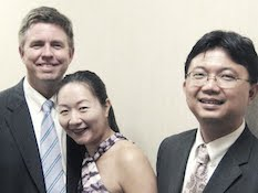 Pictured is the Archduke Piano Trio, including Robert Holm, Enen Yu and Guo-Sheng Huang