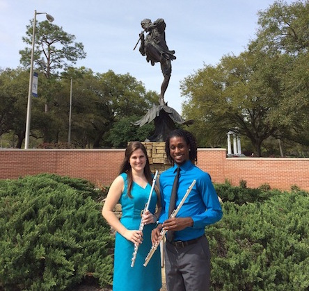 read story, Brianna Smith and Ivan Merriweather Senior Flute Recital April 3