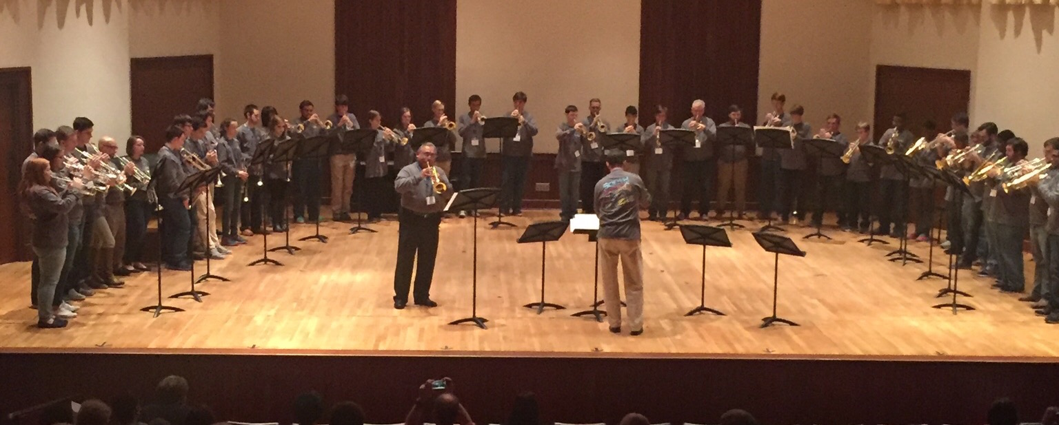 USA Brass Ensemble performing on stage