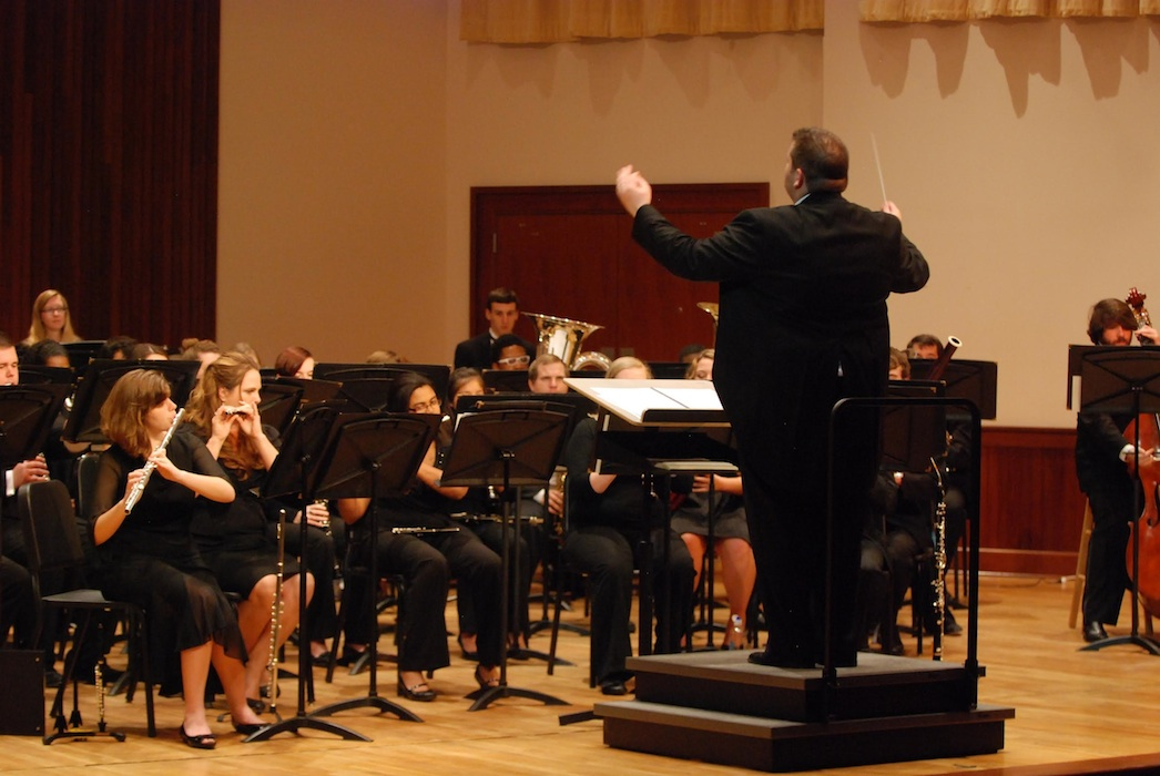 read story, Symphony Band and Wind Ensemble Winter Concert February 21