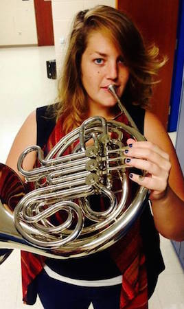 Morgan Wilkins her French horn