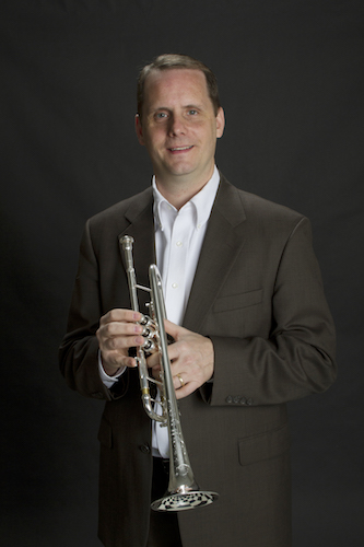 Dr. Peter Wood with his trumpet