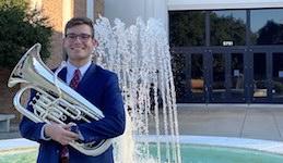 Pictured is euphoniumist Noah Barnett.