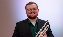 Pictured is trumpeter Kyle Brookins.