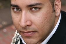 Pictured is guest faculty clarinetist Victor Chavez.