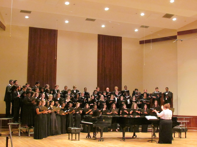 USA Concert Choir conducted by Laura Moore