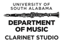 Pictured is the clarinet studio recital poster for December 3, 2018 at 7:30 p.m.