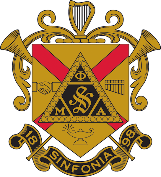 The coat of arms for Phi Mu Alpha is pictured. data-lightbox='featured'
