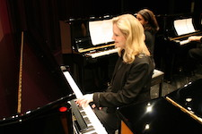Pictured in performance is Dr. Ellen Elder.