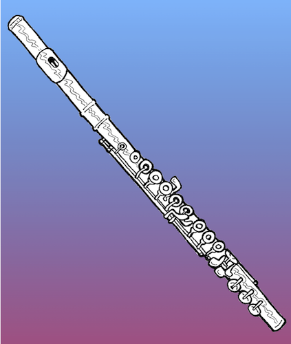 Pictured is an artistic rendition of a flute on a blue background. data-lightbox='featured'