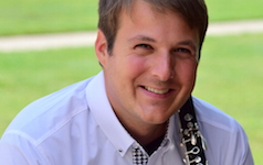 Pictured is USA Faculty Clarinetist Dr. Kip Franklin.