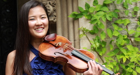 Pictured is USA faculty violinist Grace Kim.