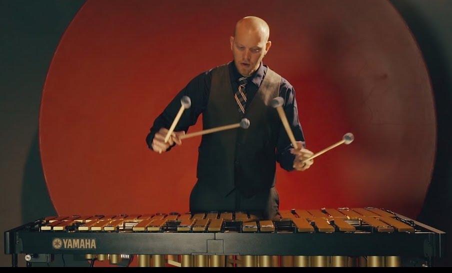 Pictured is percussionist Von Hansen
