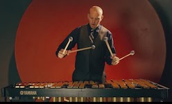 Pictured is percussionist Von Hansen