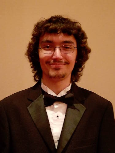 Pictured is pianist and composition major Peter Kohrman