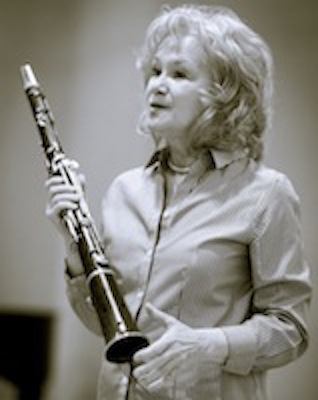 Esther Lamneck with clarinet