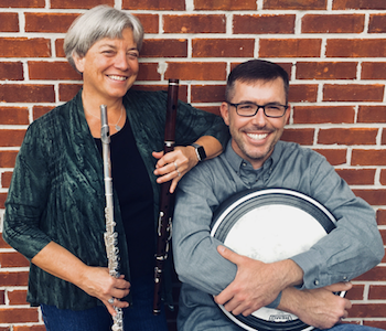 The Liminal Duo, made up of flutist Andra Bohnet and percussionist Andy Kruspe