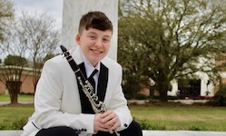 Pictured is USA senior clarinetist Gail Lyons.