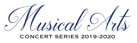 Pictured is the logo for the USA Musical Arts Concert Series 2019-2020.
