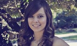 Pictured is senior trumpeter Abigail McKinney.