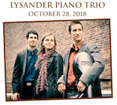 Pictured is the Lysander Piano Trio