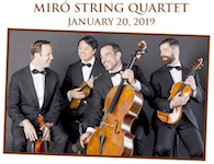 Pictured is the Miro String Quartet
