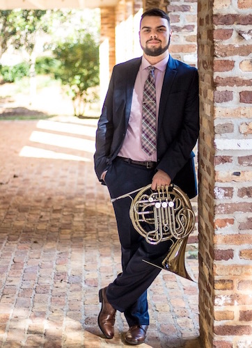 Dustin Miller with french horn