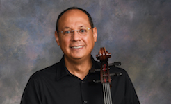 Pictured is Guest Artist Cellist Moises Molina.