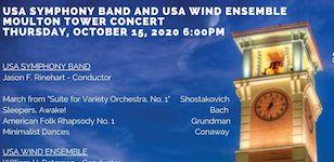 USA Bands Moulton Tower Concert poster