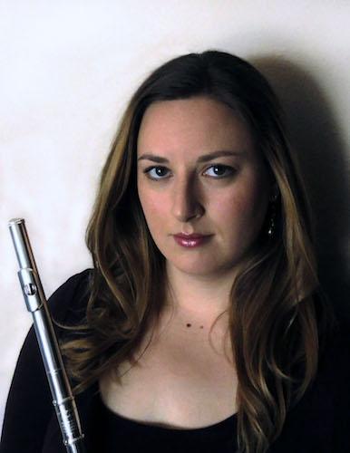 Rachel Nozny with flute