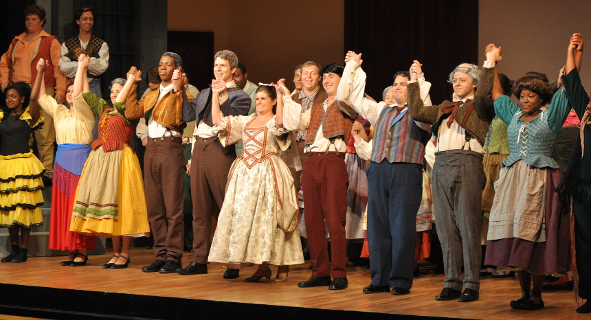 players on stage following Scenes from Opera and Musical Theatre