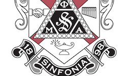 Pictured is the Phi Mu Alpha Sinfonia crest.