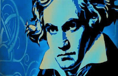 Pictured is a likeness of the great composer Ludwig van Beethoven.