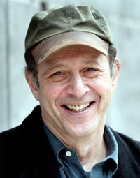 close shot of Steve Reich with happy expression