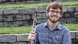 Pictured is oboist Cameron Swann.