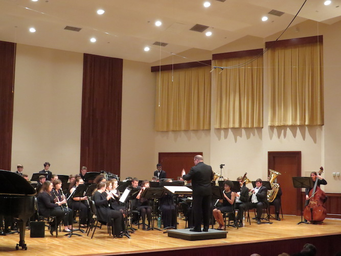 USA Symphony Band in performance at the Laidlaw Performing Arts Center Recital Hall
