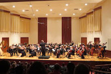 Pictured on the Laidlaw Recital Hall stage is the USA Symphony Orchestra.