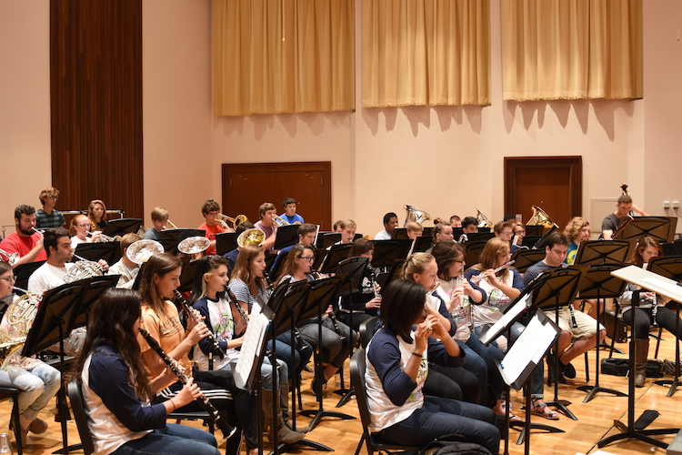 USA University Band in rehearsal