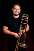 Pictured is Dr. Arie VandeWaa, USA Faculty Trombonist.