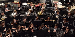 USA Wind Ensemble pictured onstage during a recent performance.