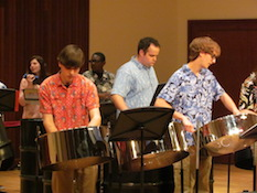 Pictured is the USA World Music Ensemble.