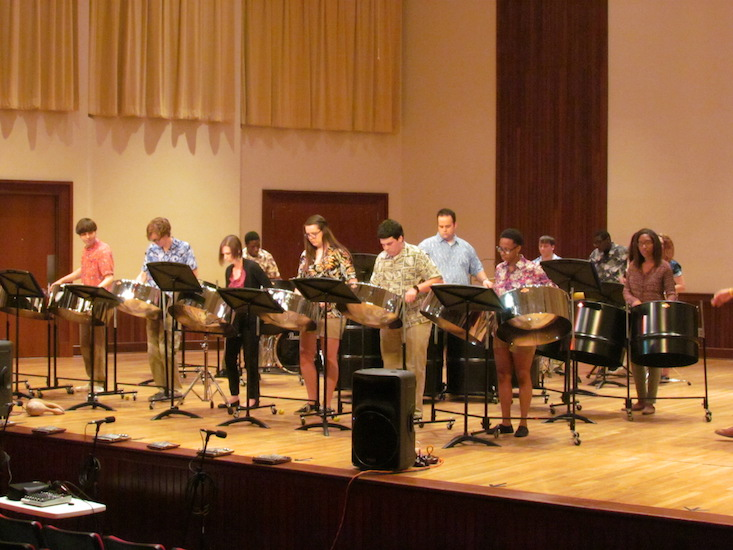 Pictured in a previous performance is the USA World Music Ensemble