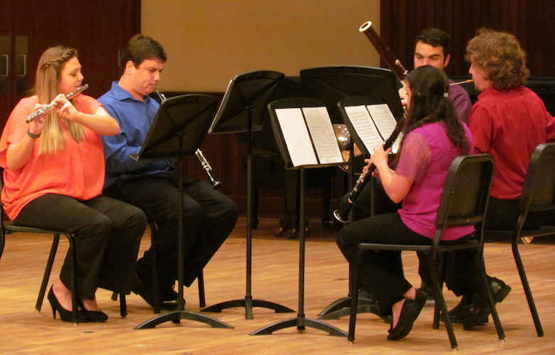 USA student woodwind quintet in a past Laidlaw Performing Arts Center performance.