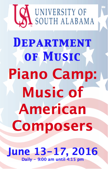 Poster for Piano Camp June 13-17, 2017