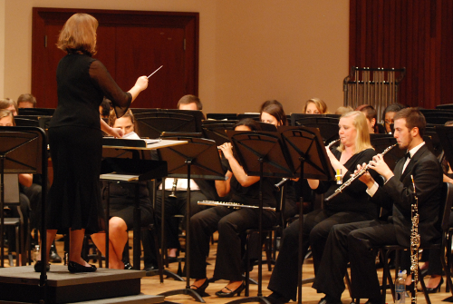 Student Conductor with Wind Ensemble