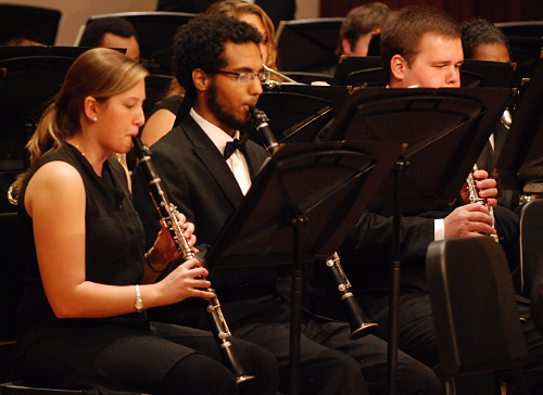 read story, Symphony Band and Wind Ensemble Concert Feb. 23
