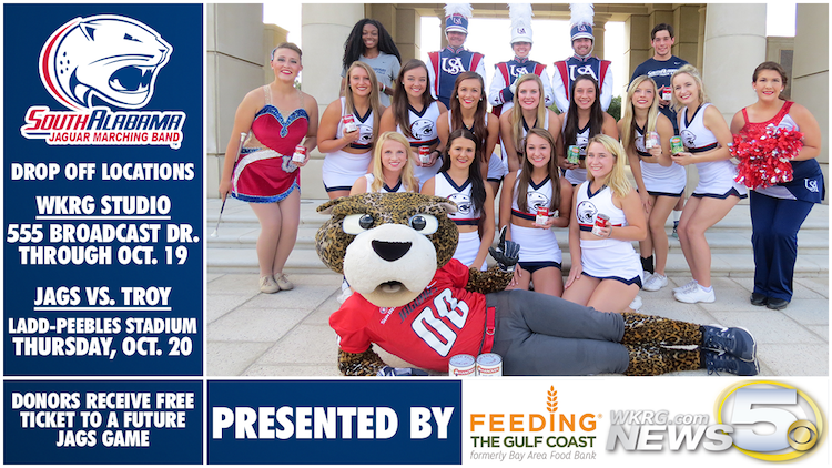 Jaguars Canned Food Drive this Thursday at USA Football!